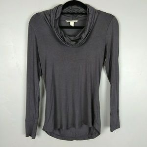 Banana Republic Taupe Cowl Neck Long Sleeve Tee